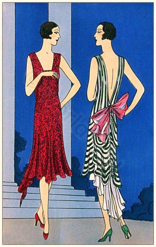 Art deco costumes by Couturiers Nanteuil, Bernard et Cie, Paris 1929