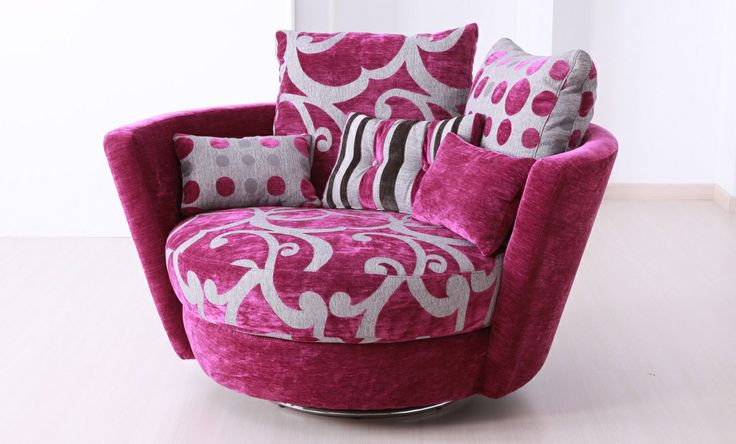 """Fuzzy Pink Chair from """"Statement Chairs"""" Chair fabric"""