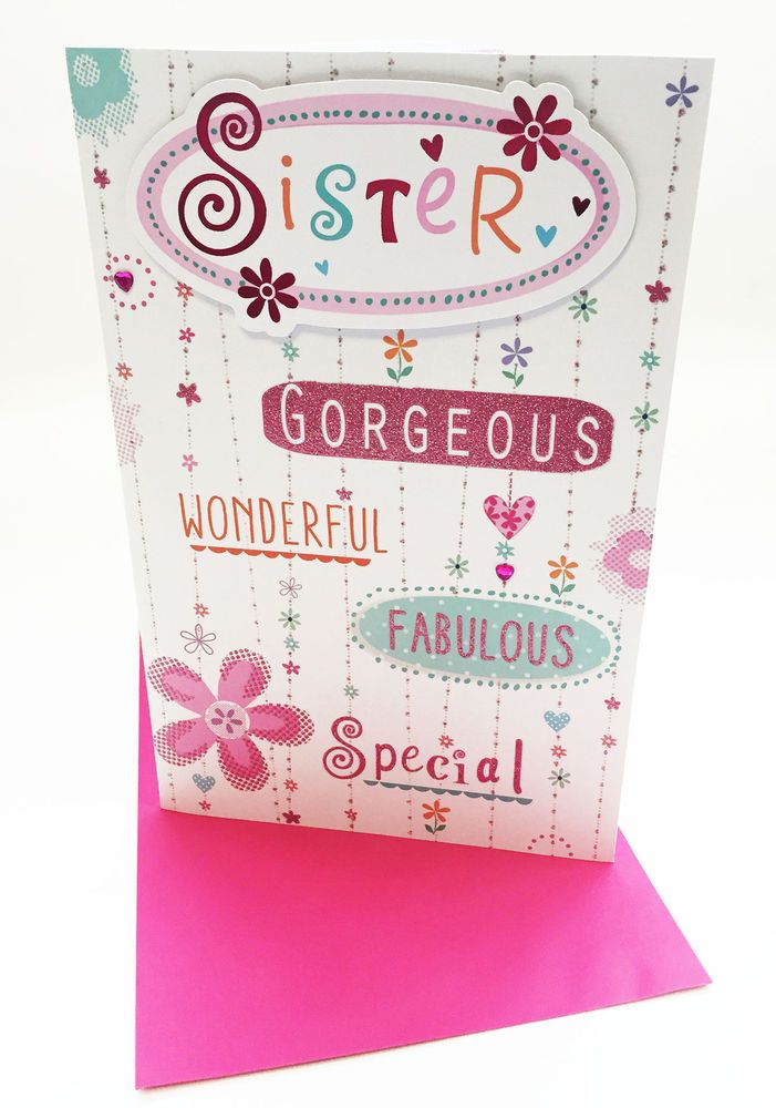Hand Made Sister Birthday Card Special Sister Sentimental