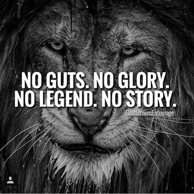 #INSPIRATIONAL #QUOTES NO GUTS. NO GLORY. NO LEGEND. NO STRORY.