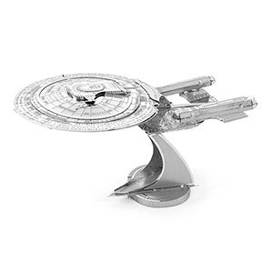 These metal Star Trek Kits are some of the coolest models we've ever seen. They are small, they are metal, and you have to totally put them together yourself. No glue needed - just lots of patience!