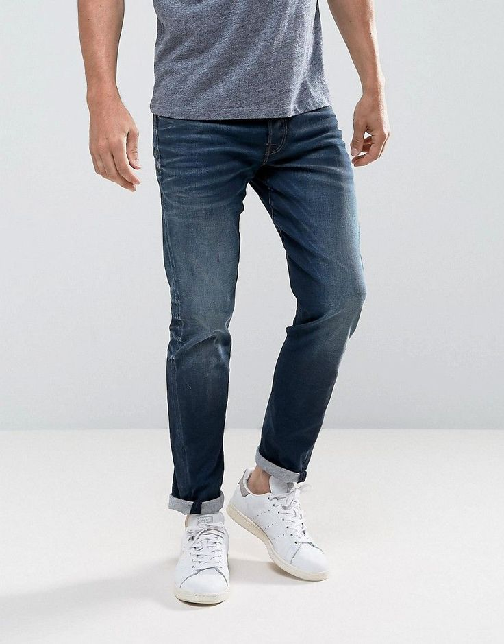Get this Jack & Jones's slim jeans now! Click for more details. Worldwide shipping. Jack & Jones Intelligence Jeans In Engineered Fit - Blue: Jeans by Jack Jones, Stretch denim, Regular rise, Concealed fly, Functional pockets, Regular fit - true to size, Machine wash, 97% Cotton, 3% Elastane, Our model wears a W 32 L 32 and is 188cm/6'2 tall. Founded in 1989, Jack & Jones is a Danish brand that offers cool, relaxed designs that express a strong visual style through their diffusion lines…