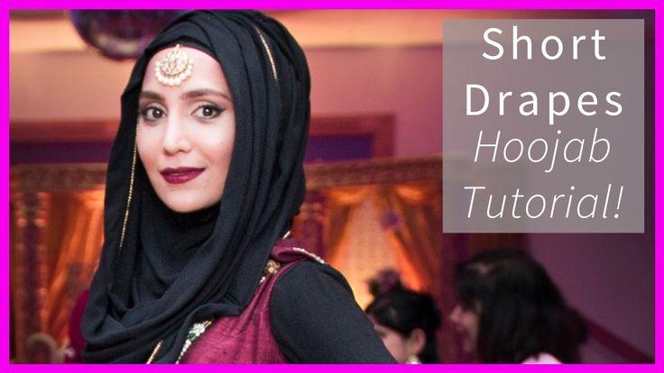 TUTORIAL | SHORT DRAPES HOOJAB | Amena