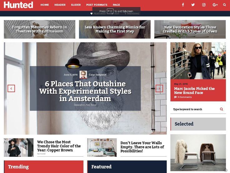 Hunted – A Flowing Editorial Magazine Theme