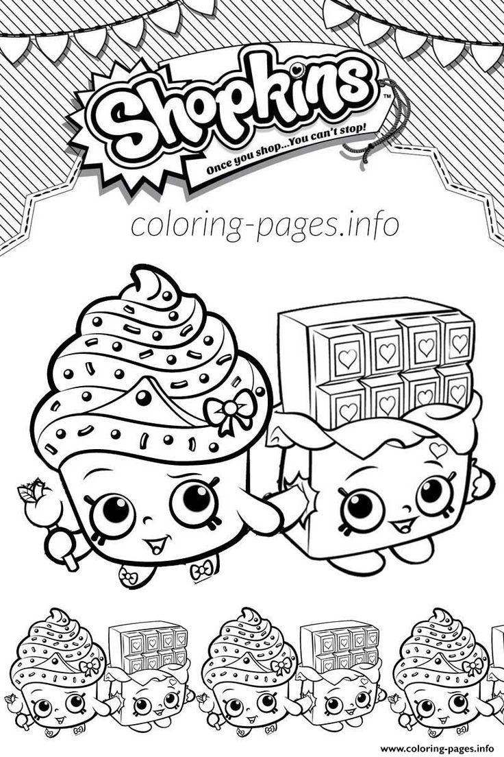 Shopkins coloring pages wishes - Print Shopkins Cupcake Queen Cheeky Chocolate Love Coloring Pages