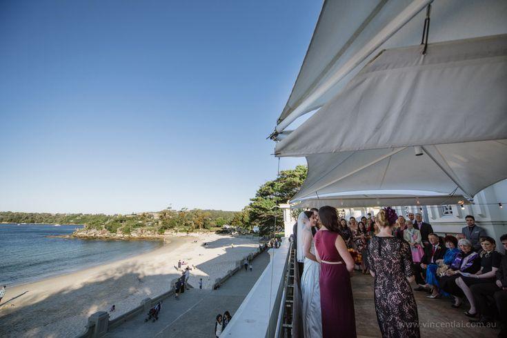 Bathers Pavilion Terrace Wedding Ceremony