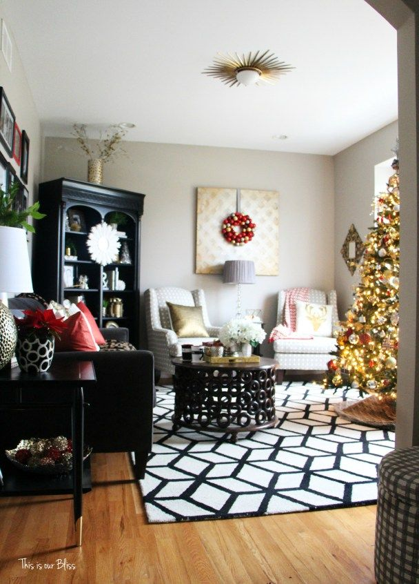 Christmas Living Room Decor Without Fireplace: Formal Living Room Christmas Decor
