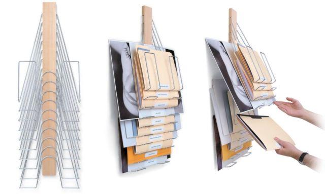 たまった書類をスタックし、省スペースで収納できる「The Up Filer」   roomie(ルーミー)
