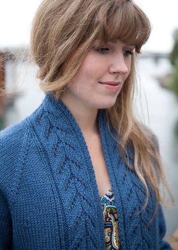 Top-Down Cardigan Knitting Pattern - No-Sew Sweater Pattern - Chic Knits Edin - Downloadable Knitting Patterns - Chic Knits Knitting Patterns designed by Bonne Marie Burns