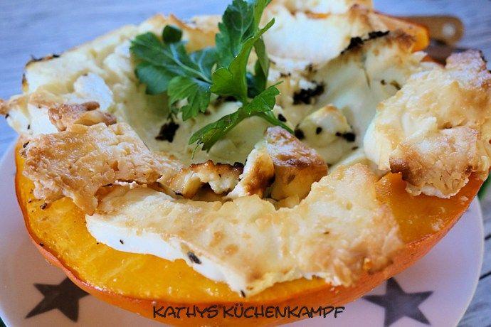 Gratinierter Kürbis von Kathys Küchenkampf -  #Feta, #Gratiniert, #Hokkaido, #Kürbis, #LowCarb, #Rezepte, #Schnell, #SchnelleRezepte, #Überbacken