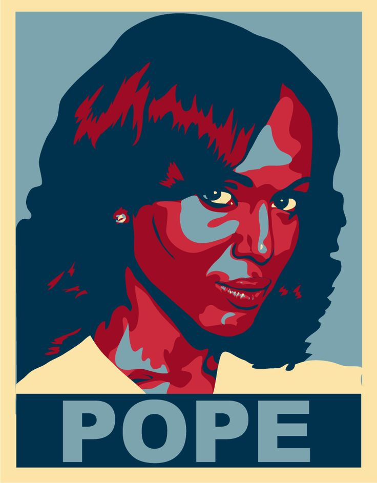 Done in the style of the famous Obama poster, a bit of Scandal fan art
