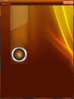Animación amber love round logo hc para celular