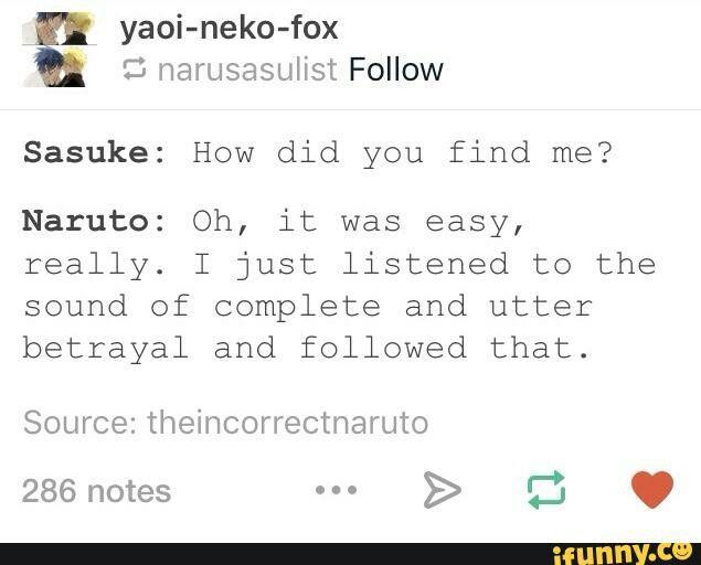 Naruto and Sasuke, funny, text