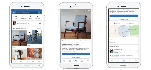 "Facebook is launching A New Feature ""Marketplace"" for users to buy and sell items with people in a community With Near Locations"