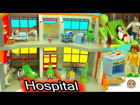 Broken Leg + Baby Gets A Shot From Doctor At Children's Medical Hospital Playmobil Video - YouTube