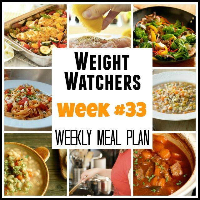 Weight Watchers Weekly Meal Plans: Week #33 with points plus and recipes for breakfast, lunch, dinner, dessert and snacks for weight loss success