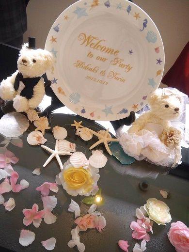 ポーセラーツの手作りウェルカムボード。 #ウェディング #wedding #ウェルカムボード