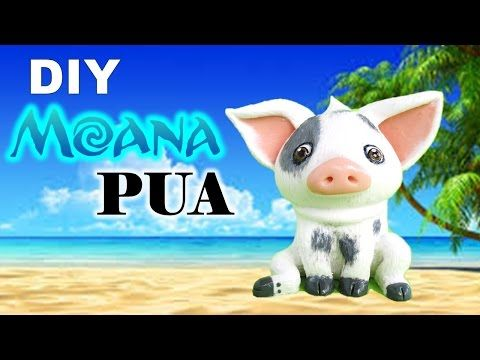 DIY Moana's Pua Polymer Clay Figurine Tutorial || Maive Ferrando - YouTube