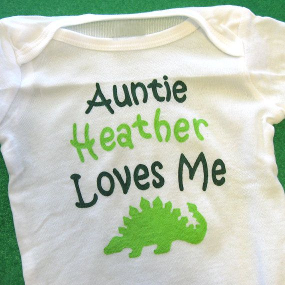 Custom Auntie Loves Me Baby Bodysuit or Kid's by LucysArtEmporium, $19.75