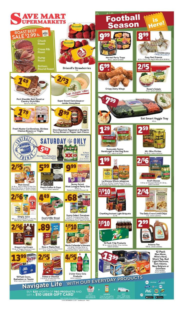 Save Mart Weekly ad September 6 - 12, 2017 - http://www.olcatalog.com/save-mart/save-mart-weekly-ad.html