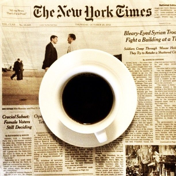 Coffee and the Times - Photo by carolyncoles