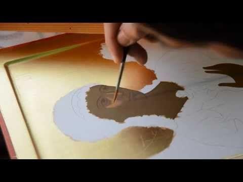 Creating an icon of St. Archangel Michael (Chilandar Monastery) by Rade Pavlovic. Процес израде Хиландарске иконе Светог Архангела Михајла.  (14 minutes)