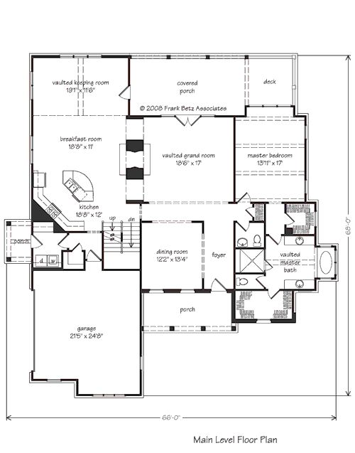 Appalachian stream home plans and house plans by frank for Frank betz floor plans