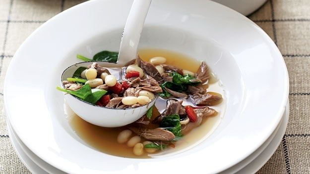 Slow-cooked lamb and white bean soup | Meals | Pinterest