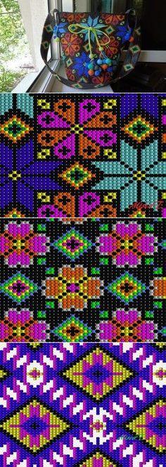 szydelkowe torby worki - wzory, wzory torem szydelkowych, crochet bags patterns, crochet wayuu bags patterns