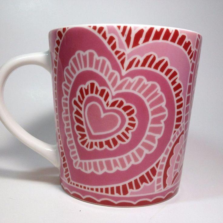 Starbucks Pink Paper Heart Mug 16 Fl. Oz. Love Valentineu0027s Day 2005