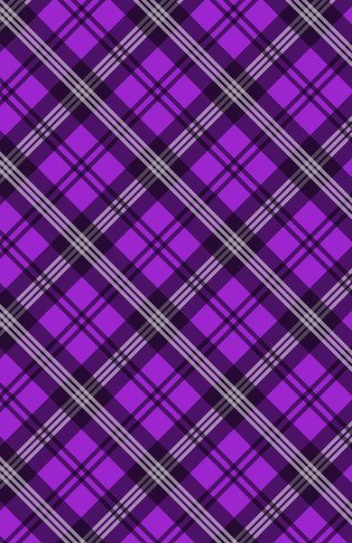 Scottish Plaid (Tartan) - Purple Art Print by Ts55