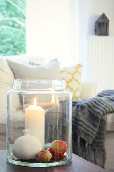 Kerzenschein, Tags Windlicht, Herbstdeko