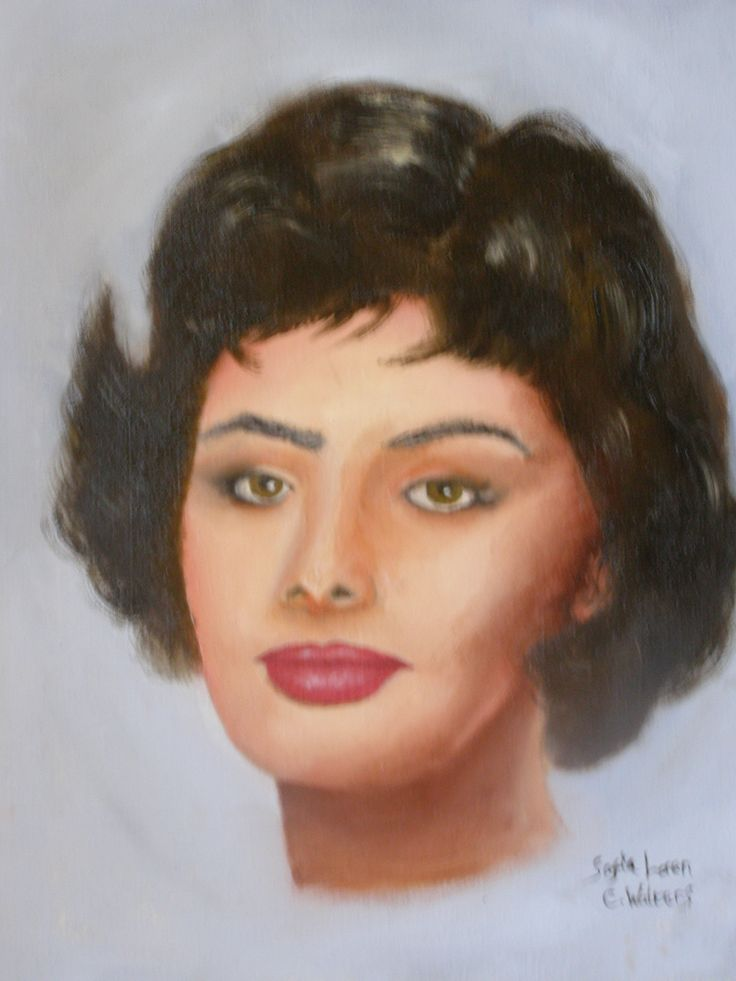 Sophia Loren 16 x 12 inch painting by Colin Walters