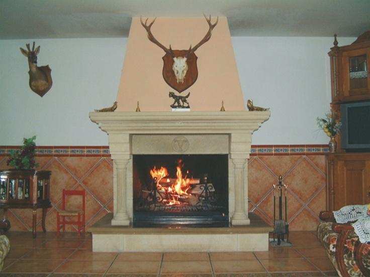 M s de 1000 ideas sobre chimeneas de piedra en pinterest - Chimeneas de interior ...