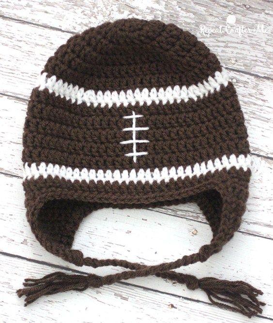 Best 25 Crochet Football Hat Ideas On Pinterest Crochet