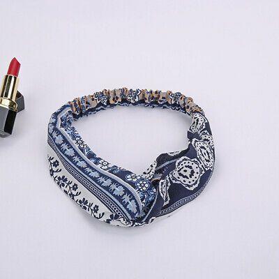 Women Vintage look Boho bohemian floral Cross scarf Hair head band bandana@ #fashion #clothing #shoes #accessories #wo