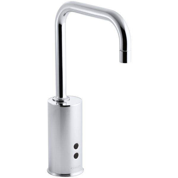 Kohler Gooseneck Single-Hole Touchless Hybrid Energy Cell-Powered Commercial Faucet with Insight Technology | Wayfair