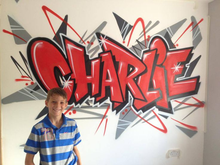 children / teen / Kids Bedroom Graffiti mural - #handpainted #graffiti…