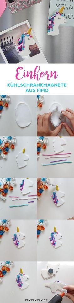 Einhorn Kühlschrankmagnete aus FIMO Kindergeburtstag Geburtstag Party / Feste feiern mit Kinder zur Mottoparty Einhorn für Mädchen. Ideen für Dekoration, Deko zum Basteln (Bastelideen), auch für Tischdeko, Einladungskarten, Mitgebsel, auch Spiele für Draussen.