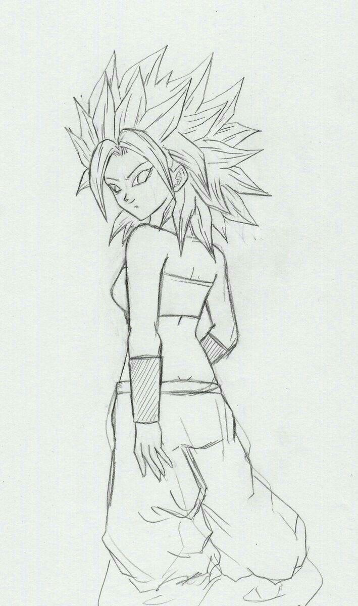 Caulifla Concept Art Dragon Ball Dragon Ball Z Pencil Drawings