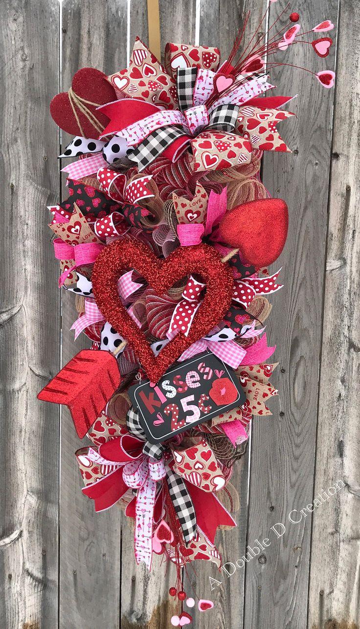 Valentineu0027s Day Wreath Valentineu0027s Day Swag Valentineu0027s