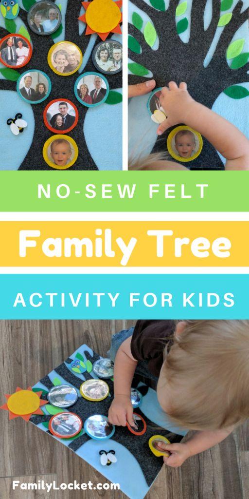 Felt Family Tree – Interactive Activity for Kids – Family Locket