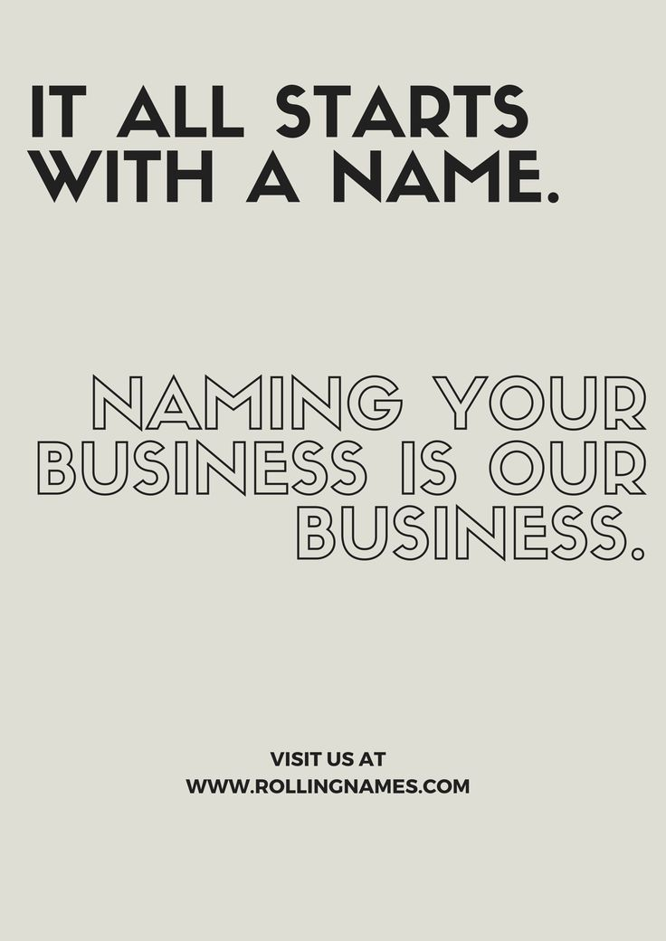 Rollingnames.com , a customised brand naming agency