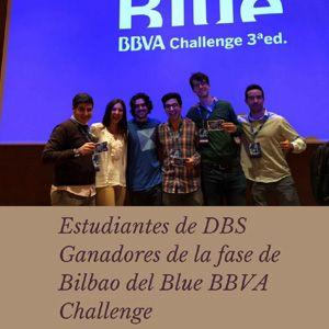 El sábado 2 de diciembre un grupo de alumnos de Deusto Business School, ganaron el Challenge de Bilbao correspondiente al Blue BBVA Challenge de entre más de 200 participantes y 80 proyectos diferentes.