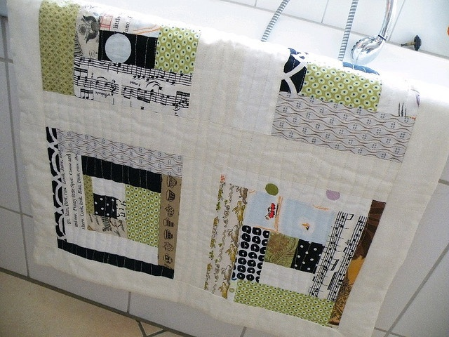 Quilted Bath Mat, Towel for Backing