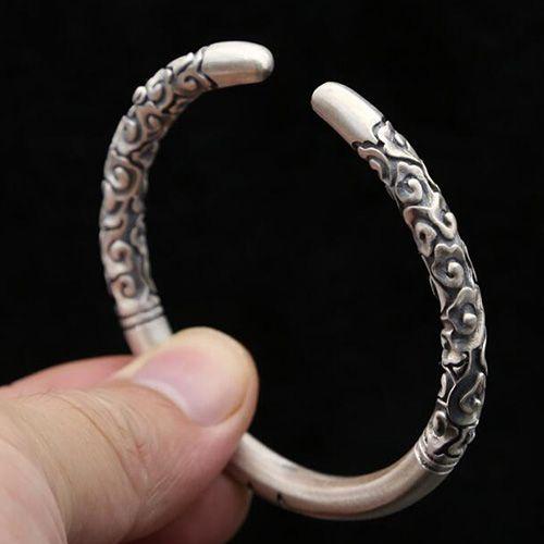 Monkey King Series - Sterling Silver Monkey King's Weapon Cuff Bracelet