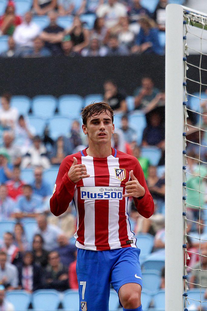 Antoine Griezman Celebrates A Goal During The Spanish League