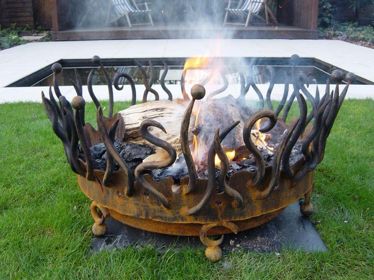 A really grand fire pit from Bex Simon, lady blacksmith in London, England