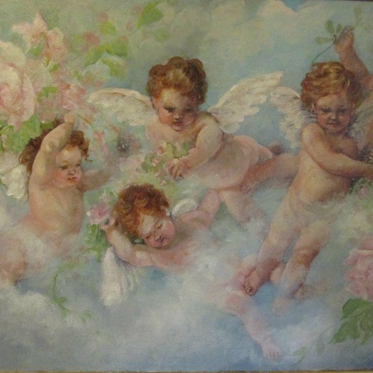 anjos pintados em telas - Pesquisa Google