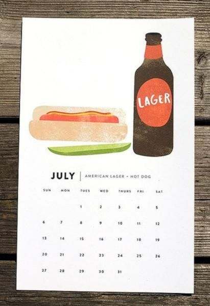Beer and Food 2014 Calendar
